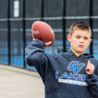Little Laker plays football